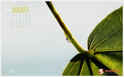 2012年08年-日历桌面壁纸精选