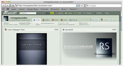 20+免费网页浏览器框架PSD模板素材