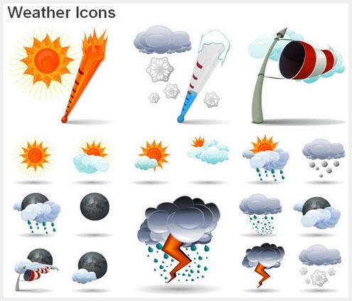 40个免费的天气图标素材