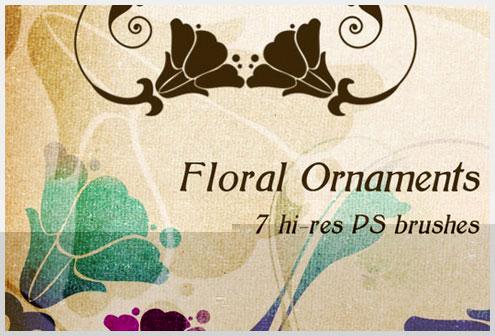 16个免费高品质花卉Photoshop笔刷集