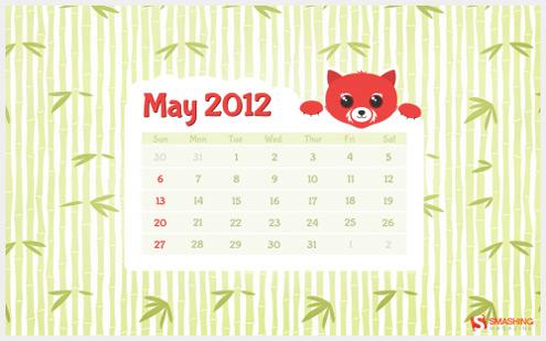 2012年05月-日历桌面壁纸精选
