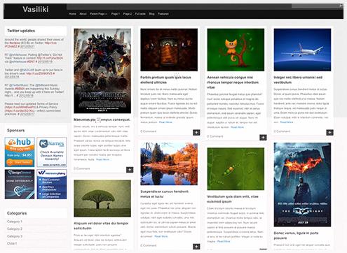 101个新鲜的WordPress主题
