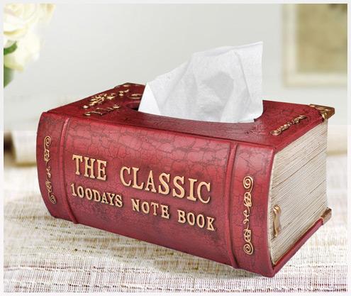 创意书本纸巾盒