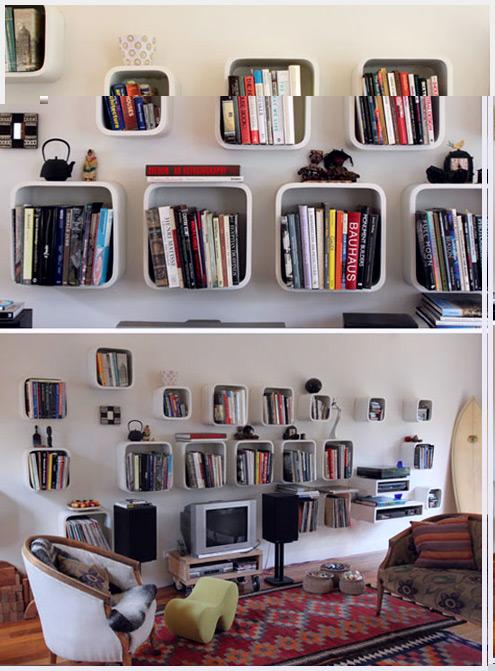 在书架旁,读一本书到天亮