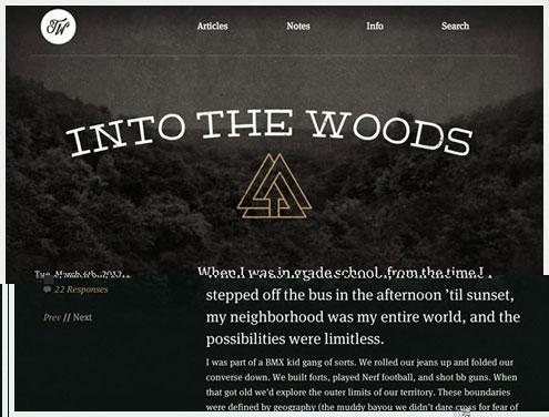 20个有创意的纹理在网页设计中的运用实例