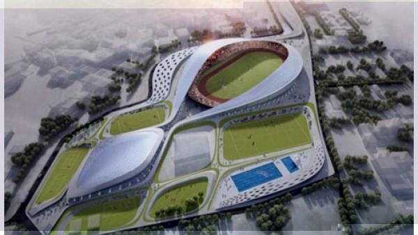 惊叹的双向体育场馆建筑展示