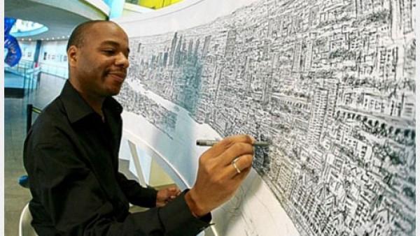残疾人艺术家惊人的艺术创作