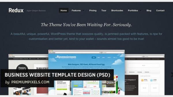 商务网站模板PSD免费资源