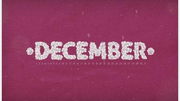2012年12月日历桌面壁纸精选