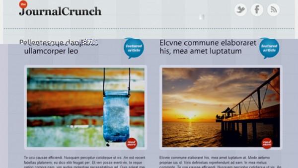 免费WordPress 3.0华丽主题JournalCrunch
