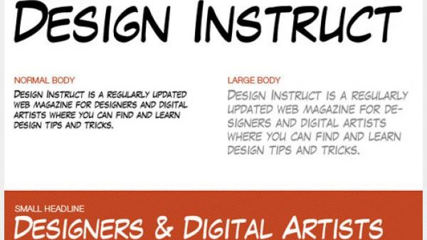 10个优秀的免费漫画书字体