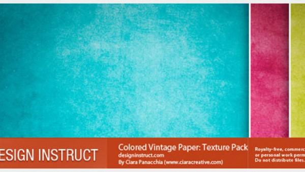 分享一个非常不错的彩色复古纹理包