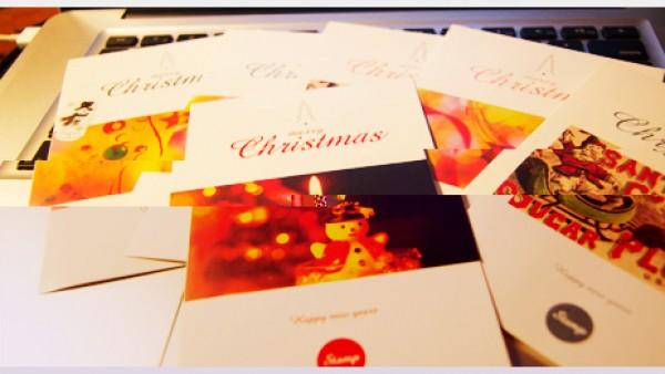 飘圣诞卡片和祝福