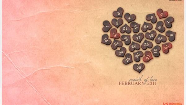 2011年2月-日历桌面壁纸精选