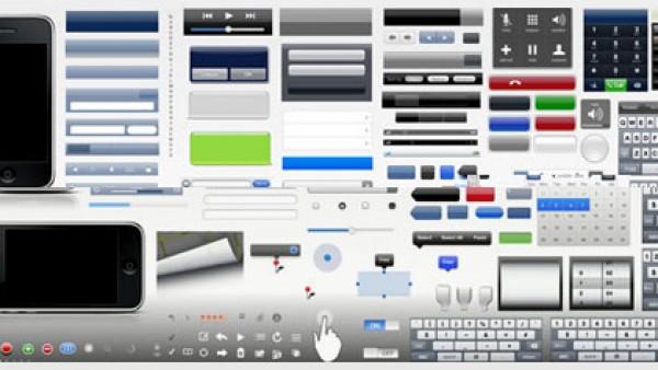 iPhone和iPad开发图形用户界面工具箱和模板以及图标