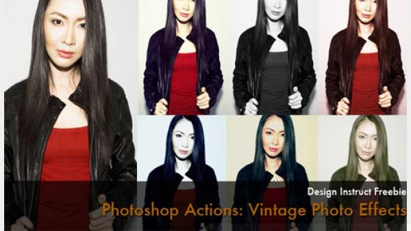 6个免费的老式照片Photoshop动作特效