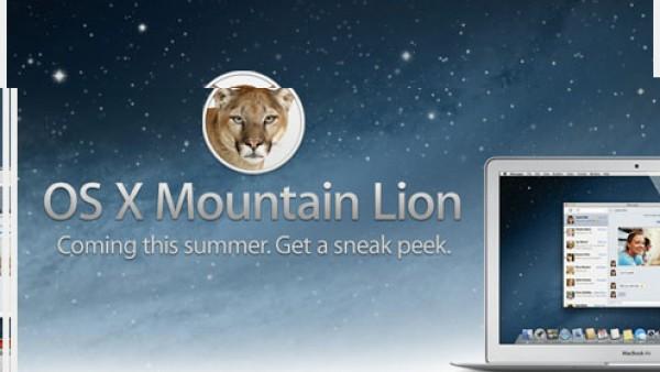 苹果发布Mountain Lion操作系统预览版