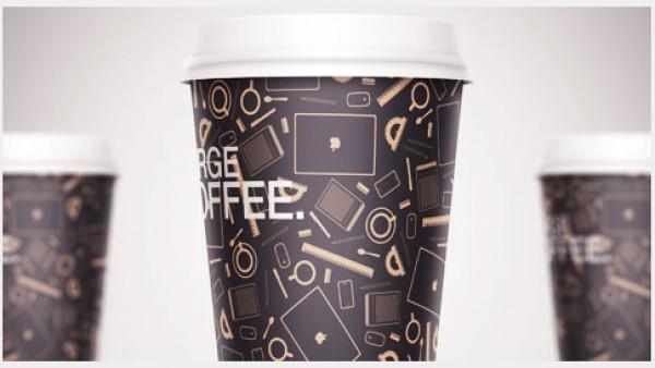 创建一个智能对象时尚咖啡杯