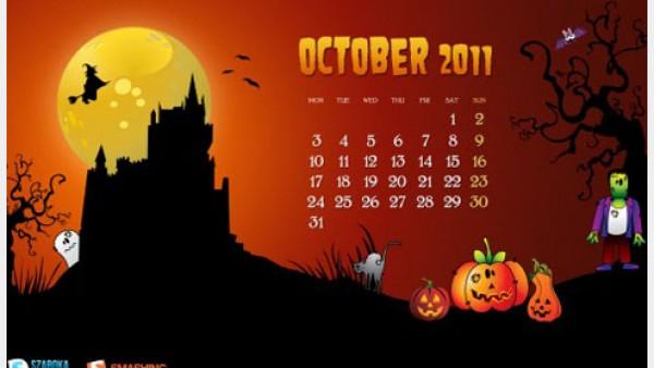 2011年10月-日历桌面壁纸精选