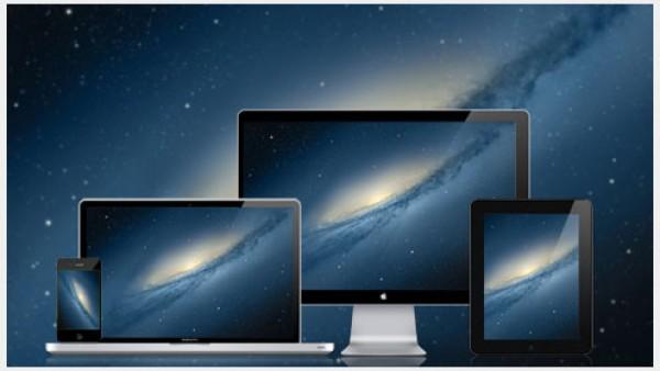 Mac OS X的山狮的银河墙纸