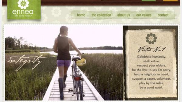 色带和标签在网页设计中的使用