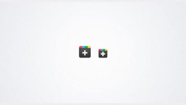 Google Plus(+) 图标下载 (PNG & PSD)
