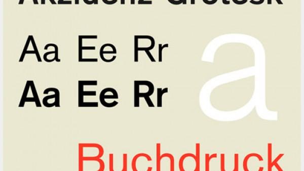 设计师使用最流行的字体