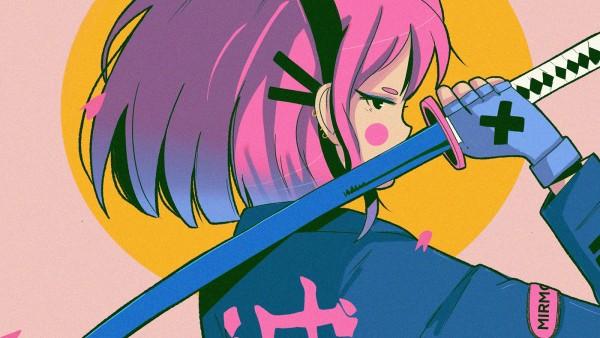 超酷日式元气少女漫画和动漫插图