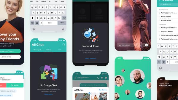 聊天App免费UI界面素材下载