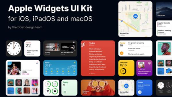 iOS 14小部件UI套件Figma源文件