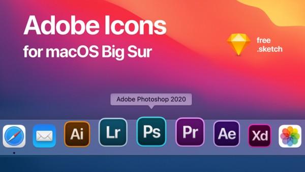 适用于macOS Big Sur的替代Adobe图标