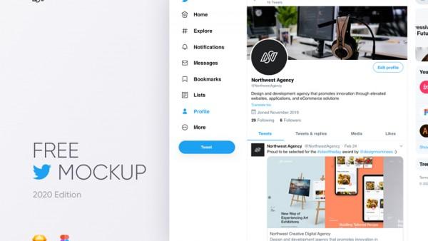 免费下载Twitter2020全新界面源文件