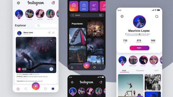 Instagram重新概念设计UI源文件下载