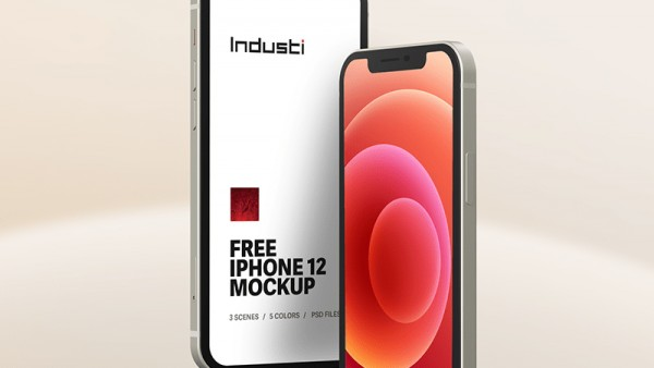 免费iPhone 12样机模板(5种颜色)源文件下载