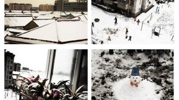 家下雪咯...