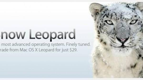 Mac OS X Snow Leopard 于 8月28日上市