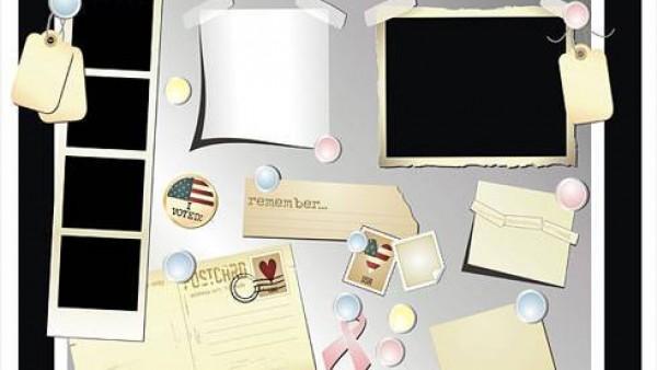 明信片、照片矢量素材