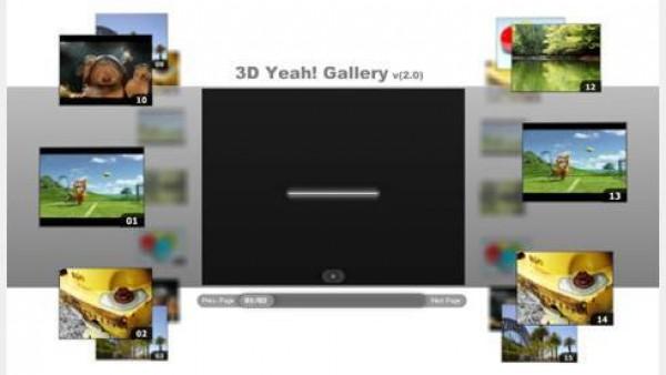 3D视频相册flash+xml素材