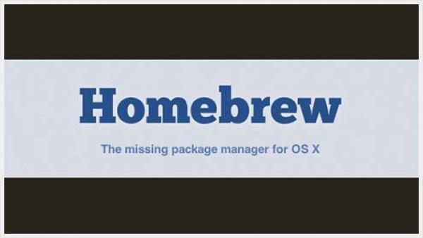 Homebrew-Mac OS下类似apt-get&yum安装工具