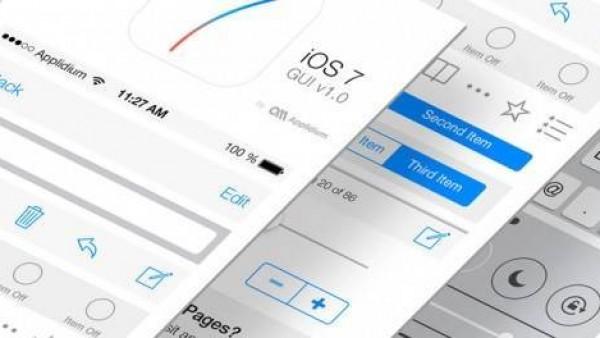 免费的iOS7 GUI套件和模板下载