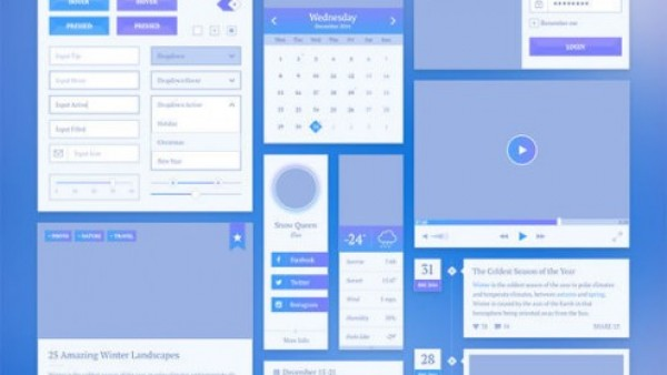 15个新鲜的WEB用户界面PSD文件素材