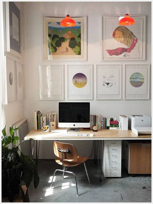 美丽的鼓舞人心的工作空间