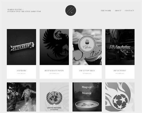 21个黑白灰搭配的网页设计案例