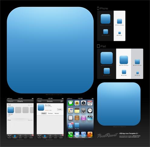iOS应用程序图标模板