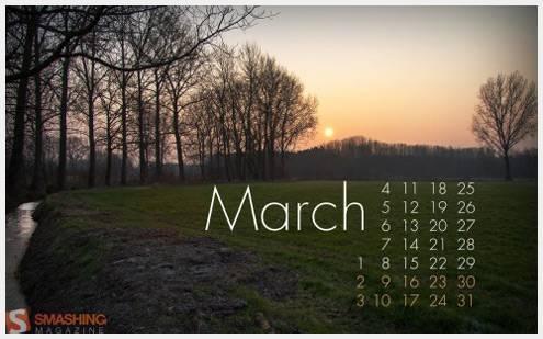 2013年03月日历桌面壁纸精选