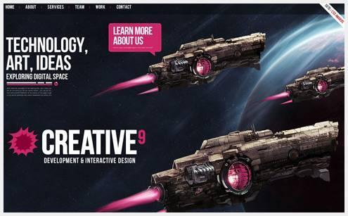 20+华丽的重设计的网页设计创意