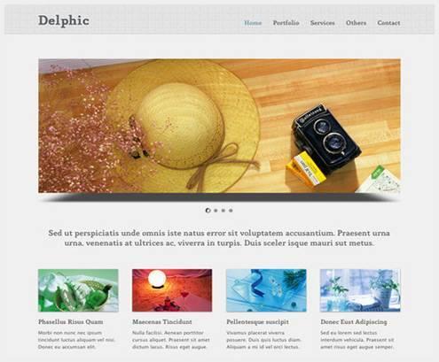 17个免费的网站主题PSD下载