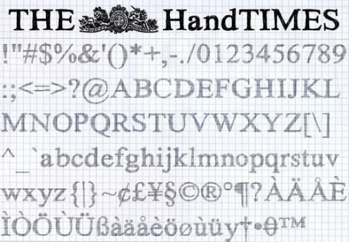 handdrawnfonts36