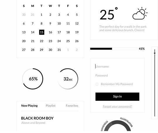 30个实用并免费的UI设计工具包 | Jackchen Design 1984