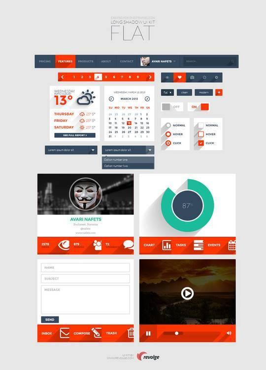 30个实用并免费的UI设计工具包